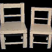 Original Wood Schoenhut Chairs - Red Tag Sale Item