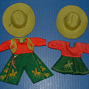 Vogue Ginny Doll Cowboy and Cowgirl Clothes