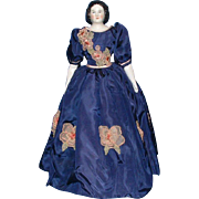 Mary Todd Lincoln Antique China Head Doll