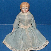 Bisque Young Girl / Lady Dollhouse Doll