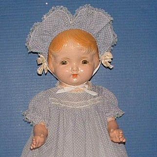 """Regal Kiddie Pal Dolly 25"""" Composition with Cloth Body Doll"""
