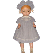 "Regal Kiddie Pal Dolly 25"" Composition with Cloth Body Doll"