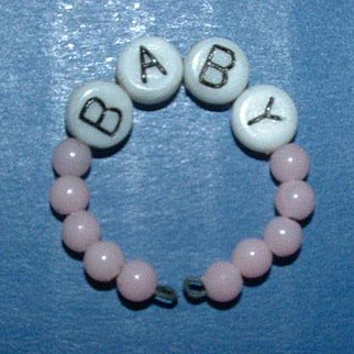 Beaded Baby Bracelet for Dydee Baby, Tiny Tears, or other baby dolls