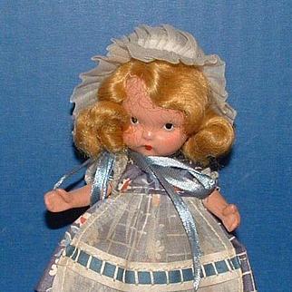 Nancy Ann Storybook Doll #118 Little Miss Muffet Sat on a Tuffet