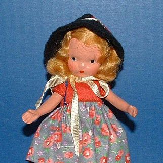 Nancy Ann Storybook Doll #114 Over the Hills - Jointed Arms and Legs