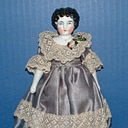 Small China Head Doll marked with a 5