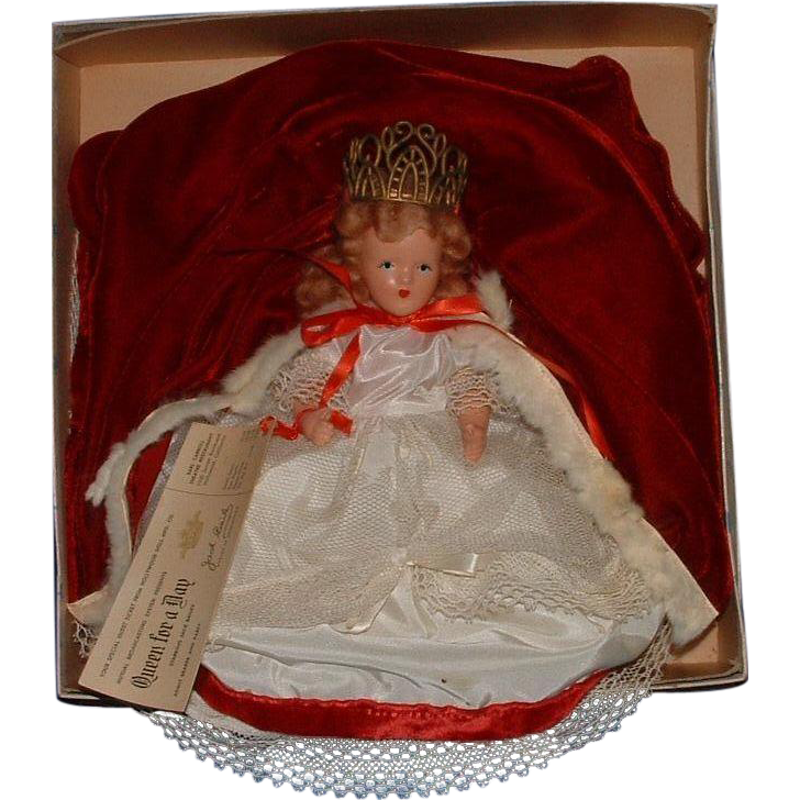 hollywood doll queen for a day in the original box from dollybear on ruby lane. Black Bedroom Furniture Sets. Home Design Ideas