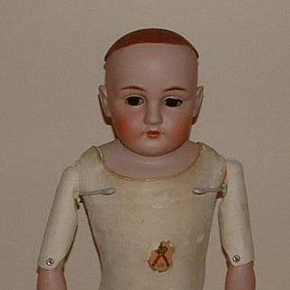 """German 25"""" Kestner 154 Bisque Shoulder Plate Doll"""