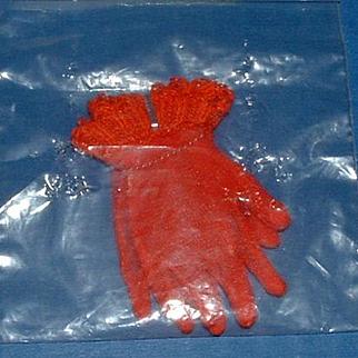 Vintage Red Nylon Gloves Cissy Doll Size