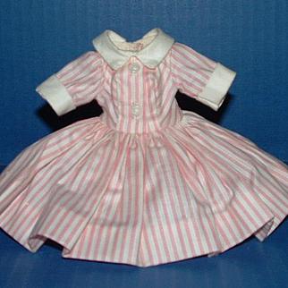 Madame Alexander Cissette Doll Pink and White Shirtwaist Dress