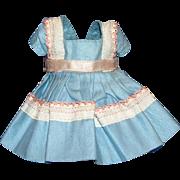 Vogue Ginny Doll Blue Dress with Eyelet Trim