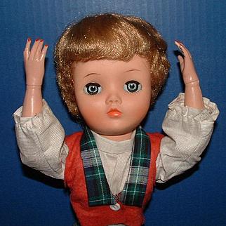 "Uneeda Dollikin 19"" Multi Jointed Fashion Doll in Original Clothes"