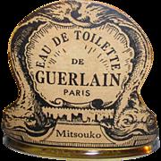 Huge 8.4 OZ. -- 250 ml -- VINTAGE Guerlain MITSOUKO EDT Splash -- Dolphin Bottle