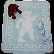 RARE Effanbee Dy-Dee ESMOND BLUE Bear Blanket