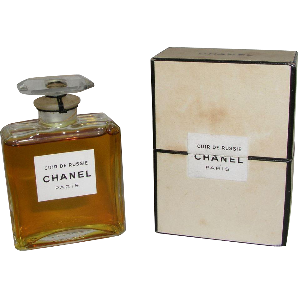 vintage 1950 39 s cuir de russie extrait parfum 1 oz in box full sold on ruby lane. Black Bedroom Furniture Sets. Home Design Ideas