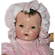 "1937 Dy-Dee Lou / Dy-Dee Louise Baby 1ST MOLD 20"" -- w/ Lovely Layette"