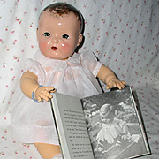 "1937 Dy-Dee Lou / Dy-Dee Louise Baby 1ST MOLD 20"" -- w/ Layette"