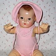 """MINT 1940's Effanbee 20"""" Dy-Dee LOU Sun Suit and Bonnet Set -- Pristine !"""