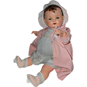"""Rare 1925 Effanbee 16"""" BABY EVELYN Composition Doll -- All Original"""