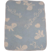 "Super Rare Effanbee 11"" Dy-Dee Ette Signature BLUE EIDERDOWN Blanket"