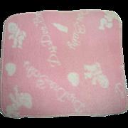 "RARE Effanbee 11"" Dy-Dee Ette Signature PINK Eiderdown Blanket"