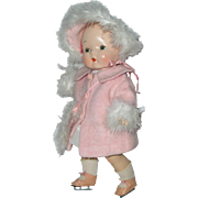 "RARE Size Harriet Flanders 1937 Compo 17"" LITTLE CHERUB Baby -- Perfection!"