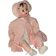 """AWESOME 1940's MIRACLE on 34th ST Doll -- Ideal Baby Beautiful 22"""" -- MINT"""