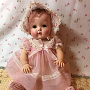 Early 1950's American Character TINY TEARS Doll w/ RARE Layette