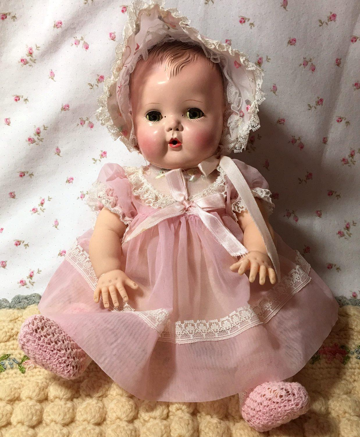 Early 1950 S American Character Tiny Tears Doll W Rare