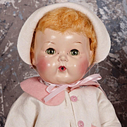 "1956 EXTREMELY RARE 16"" Tiny Tears Baby Doll by American Character"