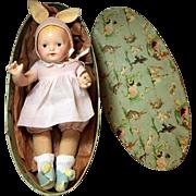 "1920's Effanbee 11"" Dainty Baby EASTER BUNNY in Box -- MINT"