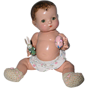 """1930's Effanbee Rare 10"""" Patsy Babykin Toddler Doll w/ Magnetic Hands"""