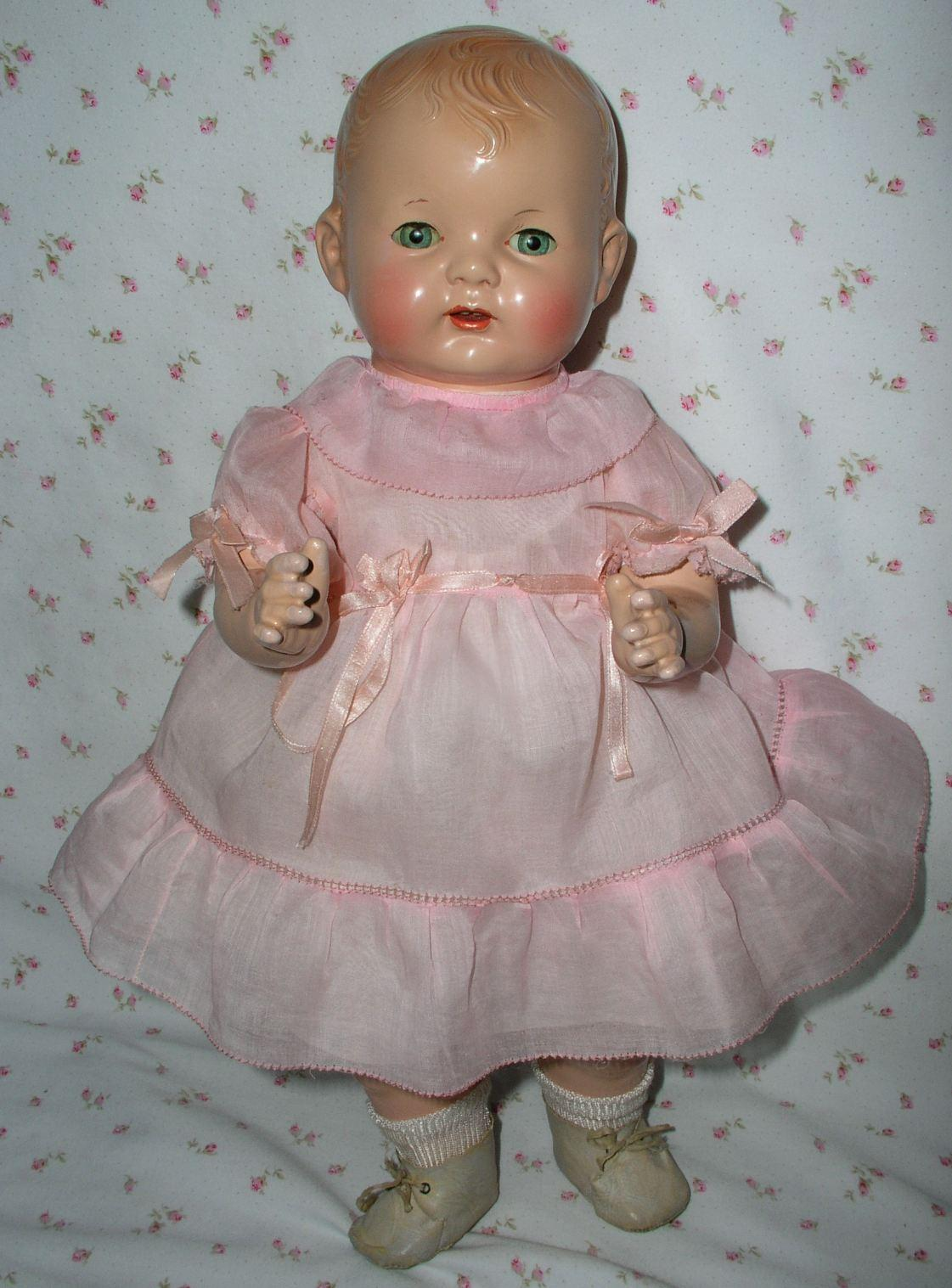 1925 Effanbee 17 Quot Baby Evelyn Composition Doll Rare