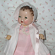 Effanbee Dy-Dee Jane Mold 1 FACTORY ORIGINAL Coat and Bonnet - Baby Pink
