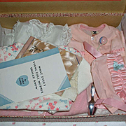 """NRA Tagged 1934 Effanbee Dy-Dee DELUXE FAO Schwarz SPECIAL Edition Christening SET for 15"""" Dy-Dee Jane"""