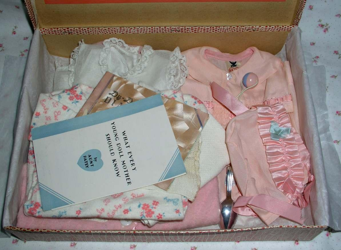 "NRA Tagged 1934 Effanbee Dy-Dee DELUXE FAO Schwarz SPECIAL Edition Christening SET for 15"" Dy-Dee Jane"