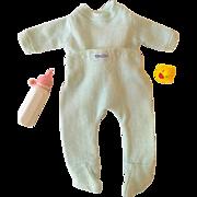 "1950s NITEY NITE Doll Pajamas - 13.5"" - 15"" Dy-Dee Tiny Tears -- Spring Green"