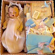 """13"""" Effanbee Dy-Dee KIN Baby in Display Box w/ Layette"""
