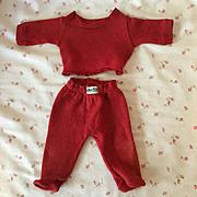 "1950s NITEY NITE Doll Pajamas -- Heavy Knit - 13"" Dy-Dee KIN, 15"" Dy-Dee Jane, or 13.5"" Tiny Tears RED"