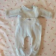 """1950s NITEY NITE Doll Pajamas - 13.5"""" - 15"""" Dy-Dee Tiny Tears -- Baby Blue"""