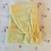 """MINT Knit NIGHT Cap for 13.5"""" Tiny Tears Baby Doll - Medium Yellow"""