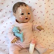 "RARE Vintage 1950's HEALTHKNIT Pink Pajamas for 15"" Dy-Dee Jane"