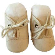 Original MINT White Tiny Tears Oilcloth Shoes