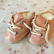"""Original MINTY Pink 11.5"""" Tiny Tears Oilcloth Shoes"""