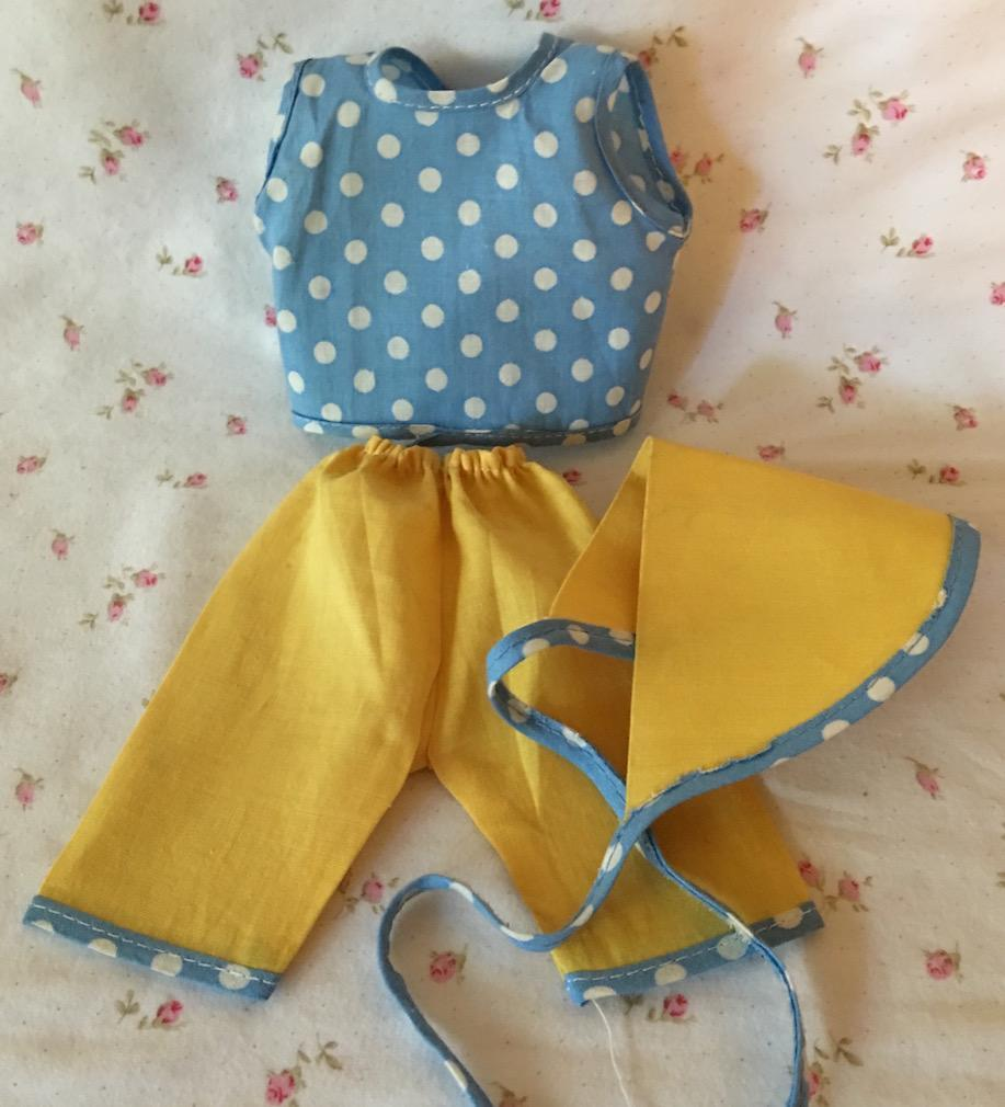 "1950's Factory Pant Set for 11 - 12"" Tiny Tears / Dy-Dee -- ""Picnic Anyone?"""