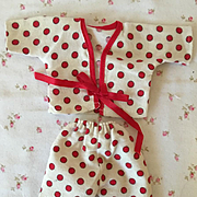 Vintage 1950's Red Polka Dot Set for Tiny Tears and Friends