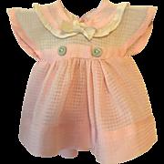 """11"""" Effanbee Dy-Dee Pink Window Pane Dress"""