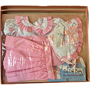 Vintage Mint in Box 1940's Effanbee Dy-Dee Jane Romper / Dress Set