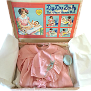"1930'S EFFANBEE 20"" DY-DEE Louise Factory Christening Set - Mint in Box"