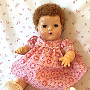 "Effanbee TWIN Series -- 15"" Dy-Dee Pink Flowered Dress #1"